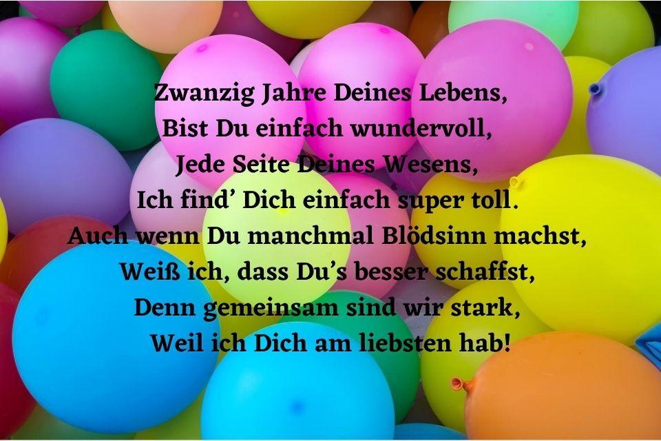 Geburtstagswünsche zum 20. Geburtstag » sprueche.co