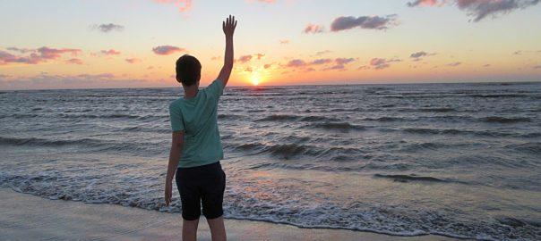 Sonnenuntergang Abschied