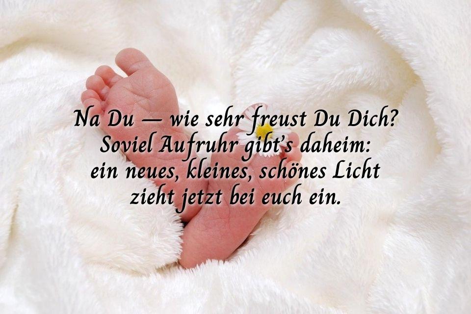 Bild mit Text für Tochter Geburt