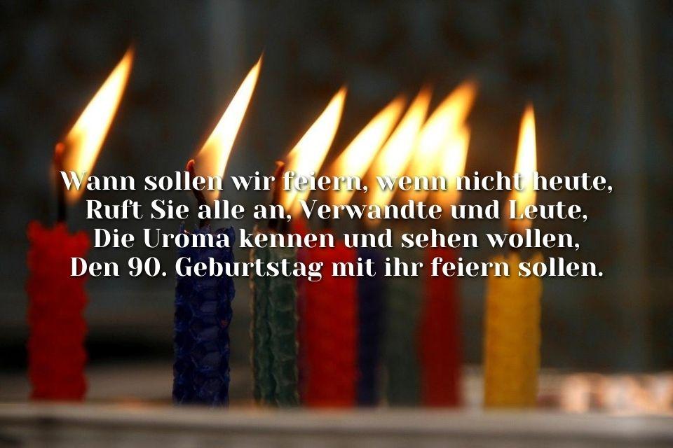 Spruch Glückwünsche zum 90. Geburtstag