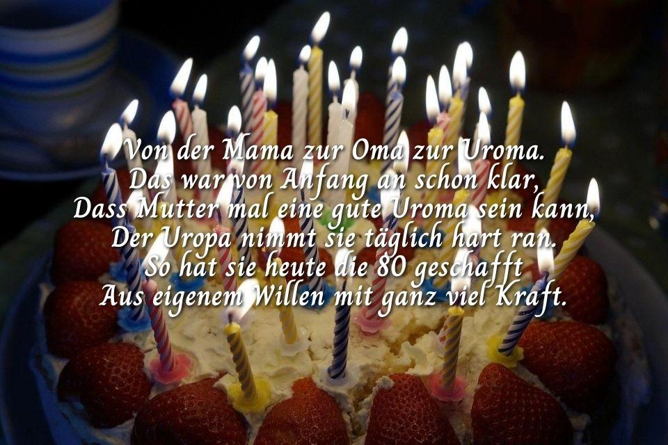 Geburtstagsglückwunsch zum 90. für Uroma