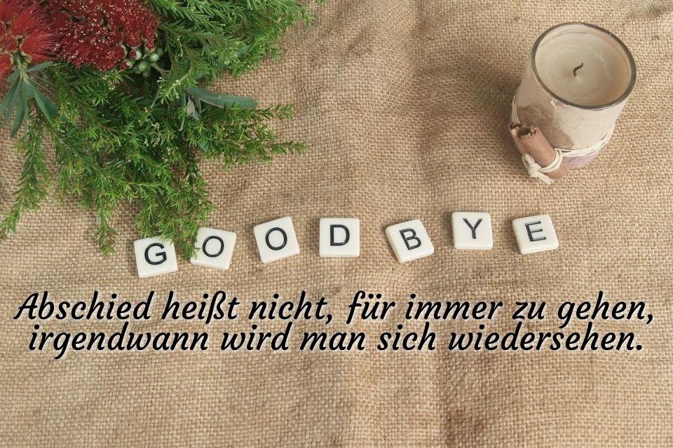 Sprüche Goodbye