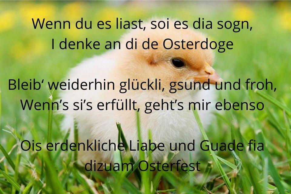 Osterspruch auf Bayrisch über Ostertage