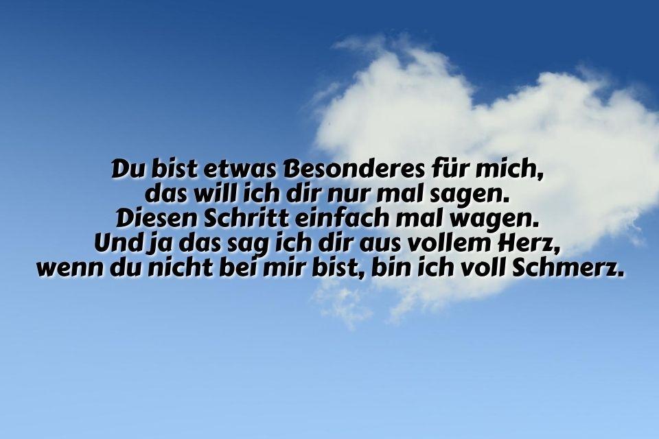 Bild mit Spruch Mensch Herz Wolke
