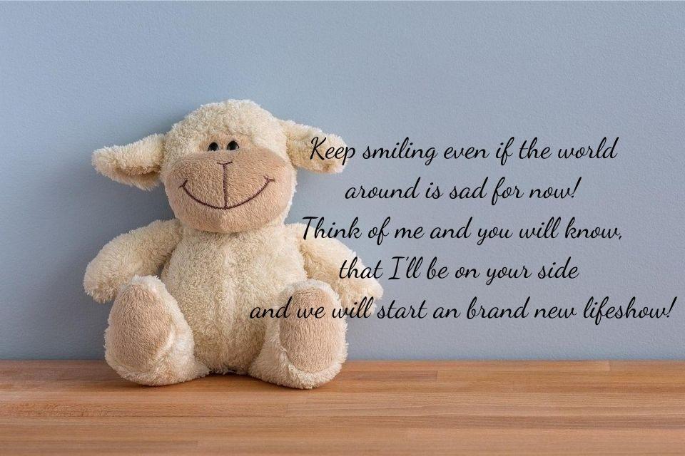 Teddy mit einem Spruch