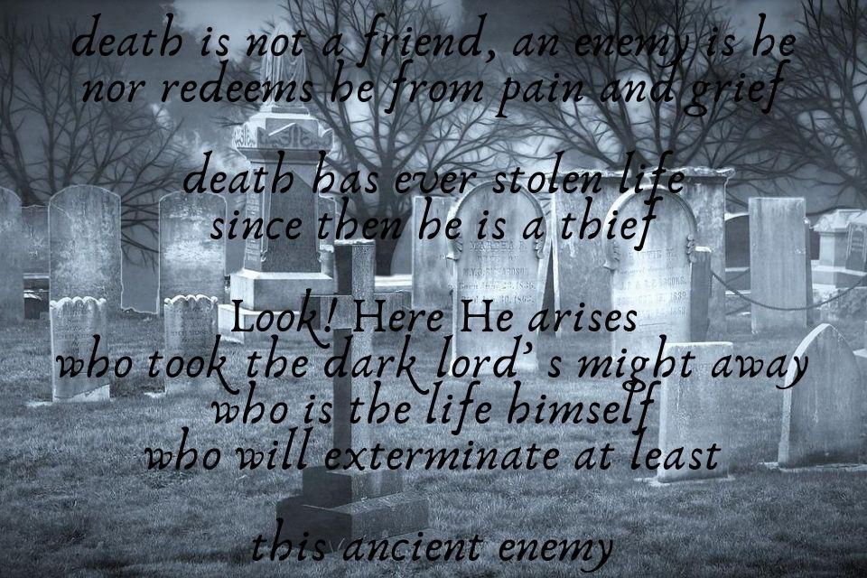 Spruch zum Trauern über Tod