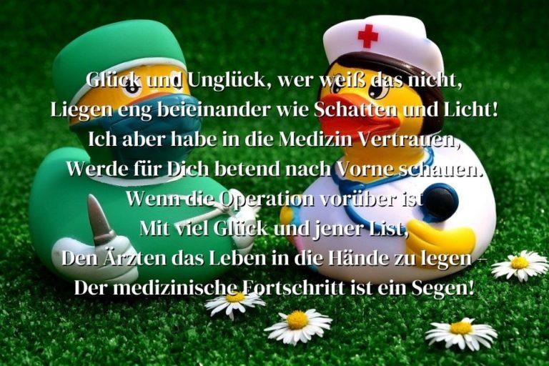Viel Glück zur bevorstehenden Operation Sprüche » sprueche.co