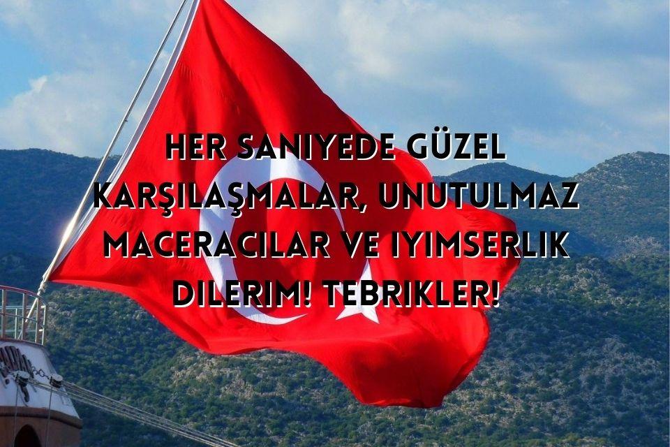 Geburtstagswunsch auf türkisch mit türkischer Flagge