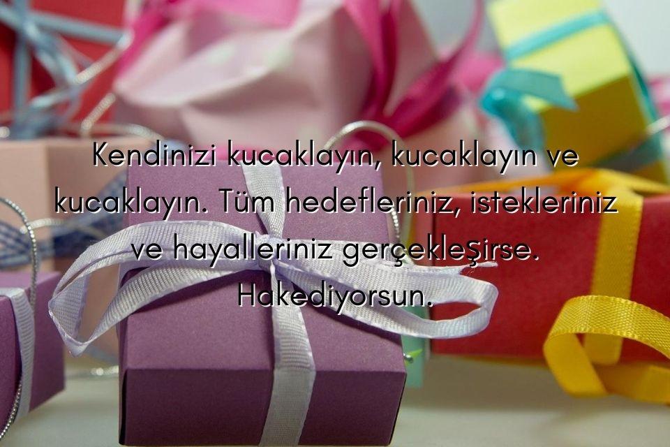 Geschenk mit türkischem Glückwunschspruch