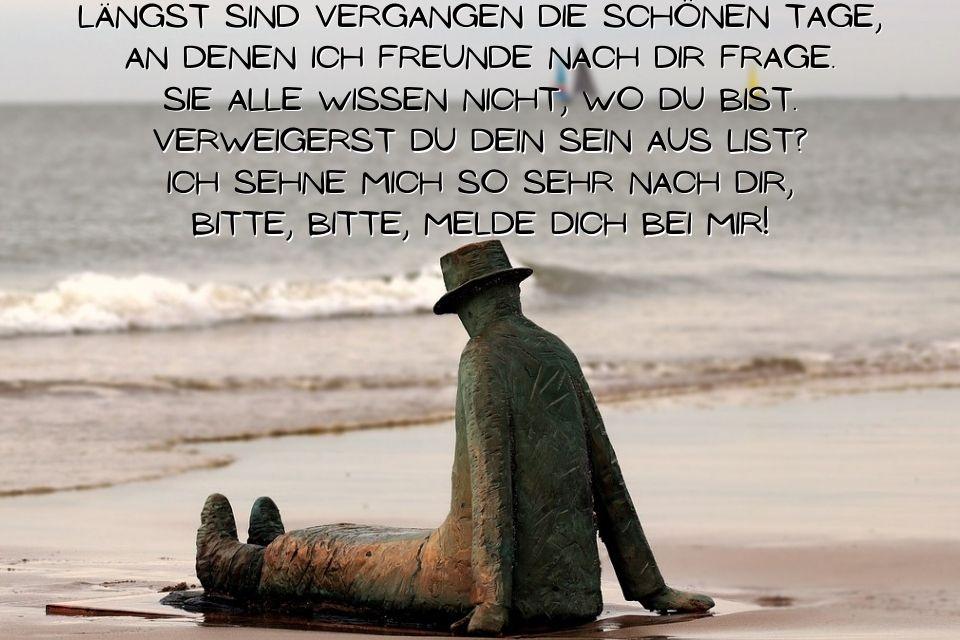 Sehnsucht nach deiner Nähe Sprüche und Gedichte » sprueche.co