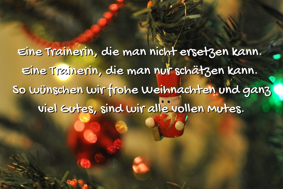 Trainerin Spruch Weihnachten