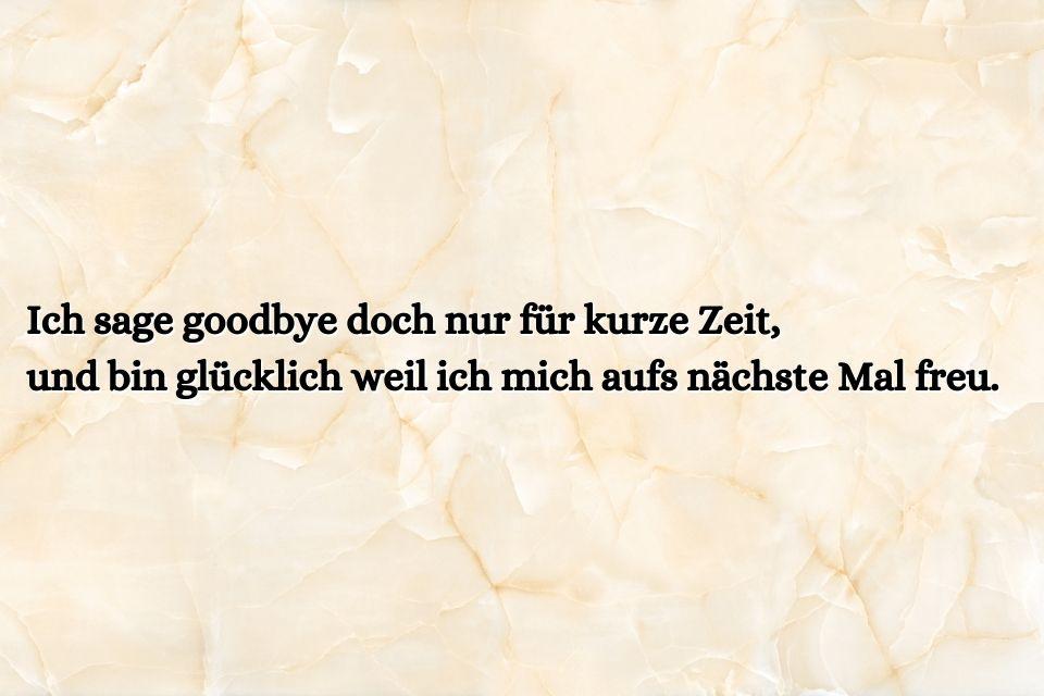 Schöner Abschied