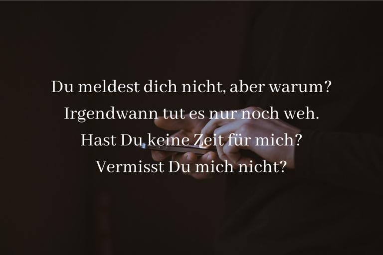Warum meldest Du dich nicht Sprüche » sprueche.co